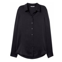 Womens LS Blouse - Black