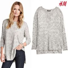 Women Fine-knit Jumper - Light Grey