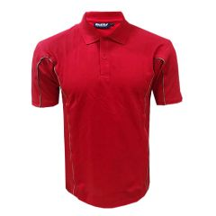 Contrast Tip Polo | Red