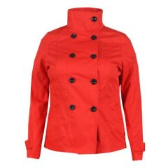 Lala Short Trench Coat - Red