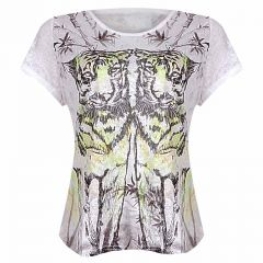 Womens Top SS - White