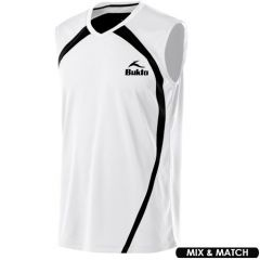Men Sleeveless Sport Jersey in White | Pack of 10 Units