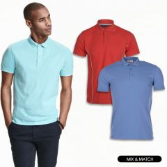 Men Plain/Print Short Sleeve Polo in Assorted Colors & Sizes | Pack of 20 Units